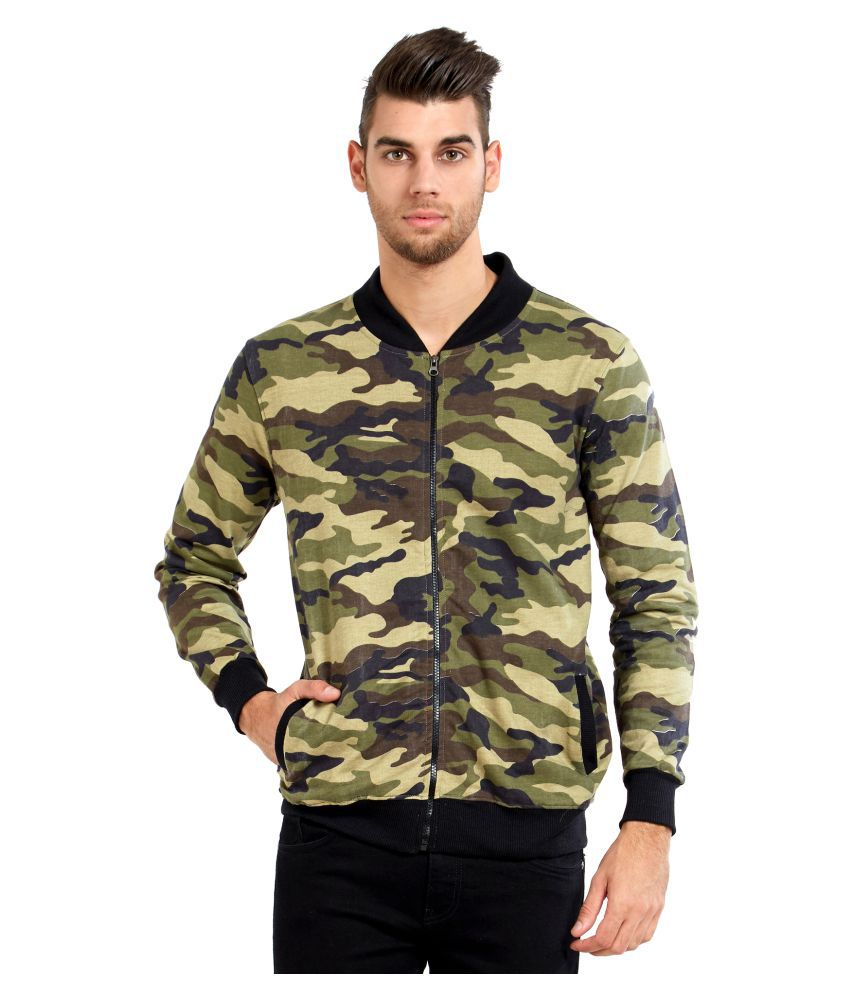 Maniac Green Quilted Bomber Jacket Buy Maniac Green Quilted