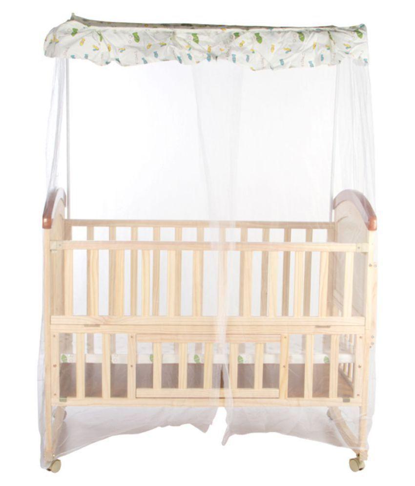 Mee Mee Baby Wooden Cot With Cradle Swing Mosquito Net Buy