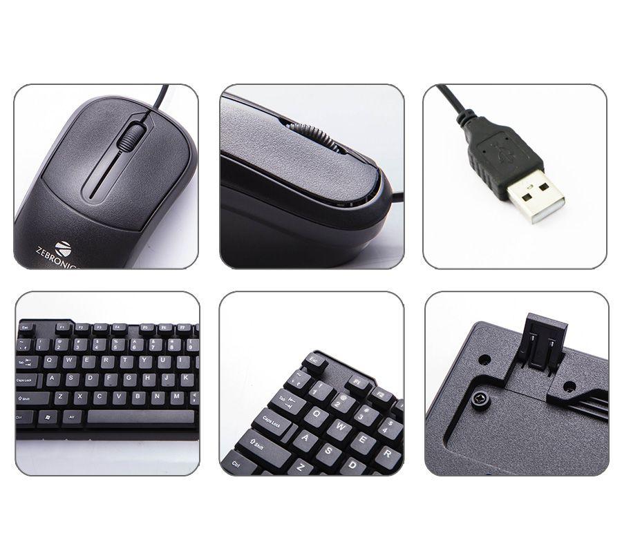 842850ddab5 ... Zebronics Judwaa-543 USB Wired Keyboard Mouse Combo with UV coated Keys  (USB-