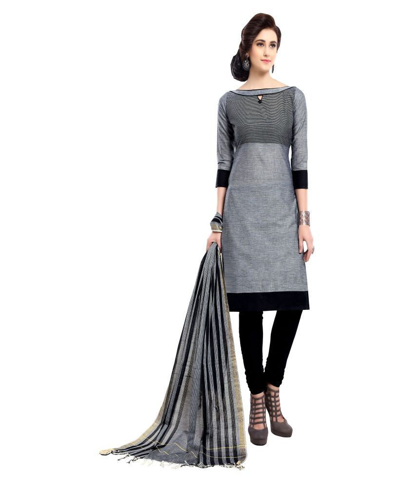 MINU Grey Cotton Straight Stitched Suit