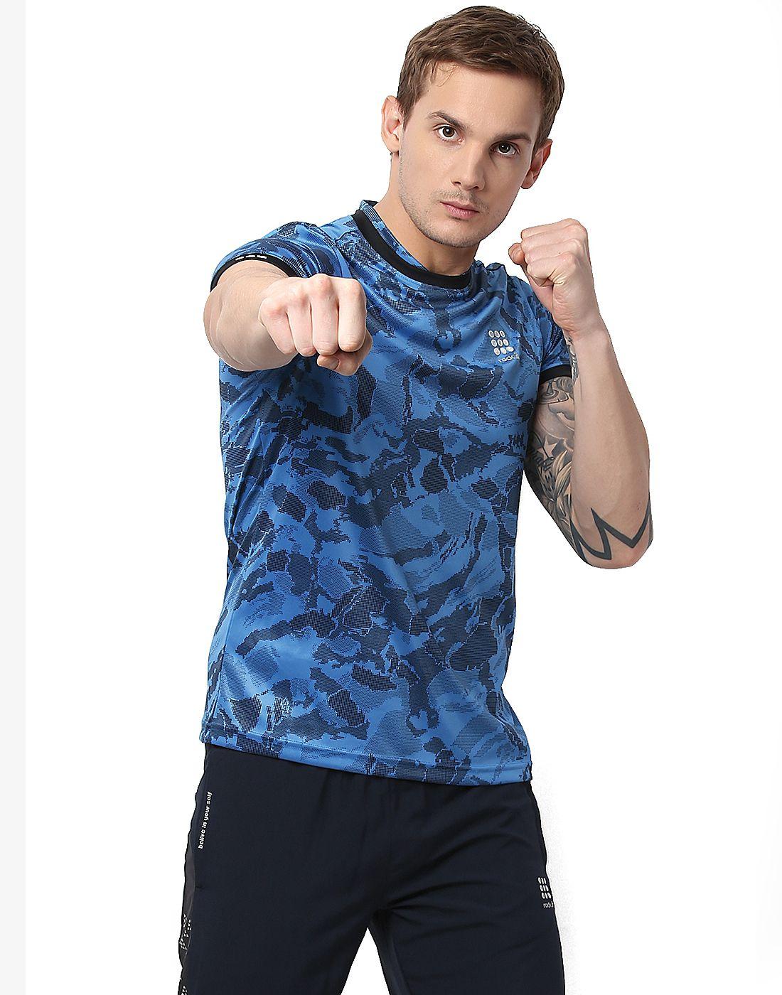 Rock.it Blue Polyester T-Shirt