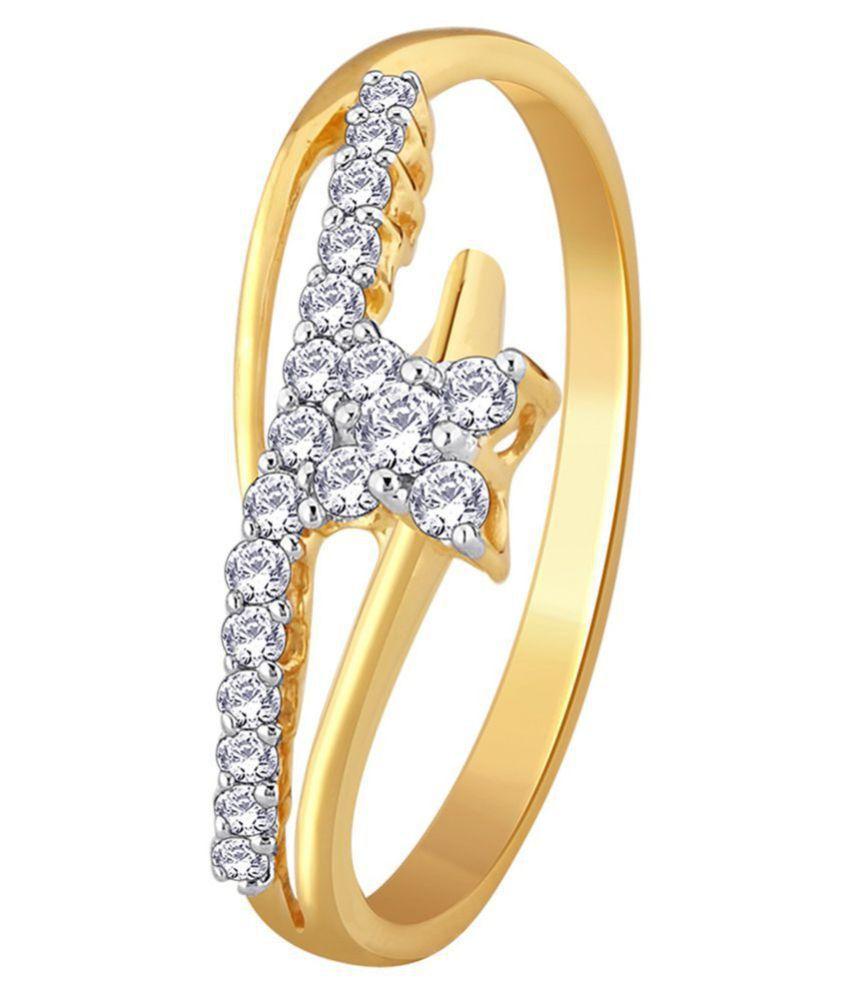 Kataria Jewellers 92.5 Silver Diamond Ring