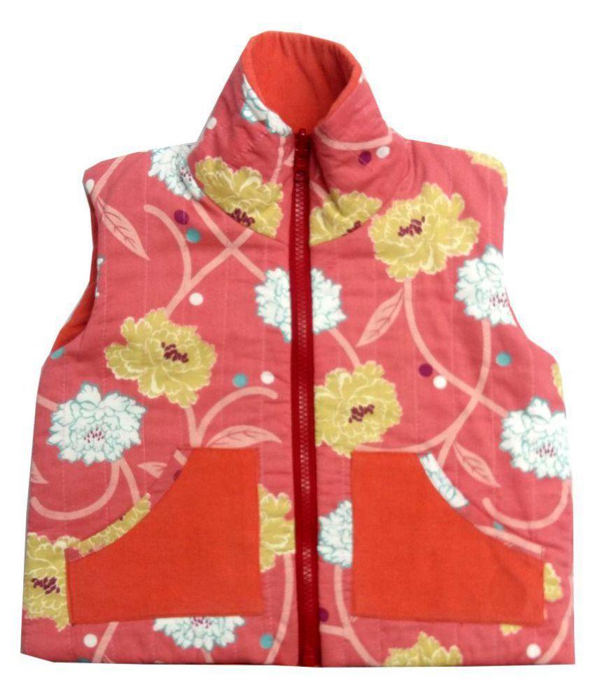 Girls Laigret Floral Orange Corduroy Jacket