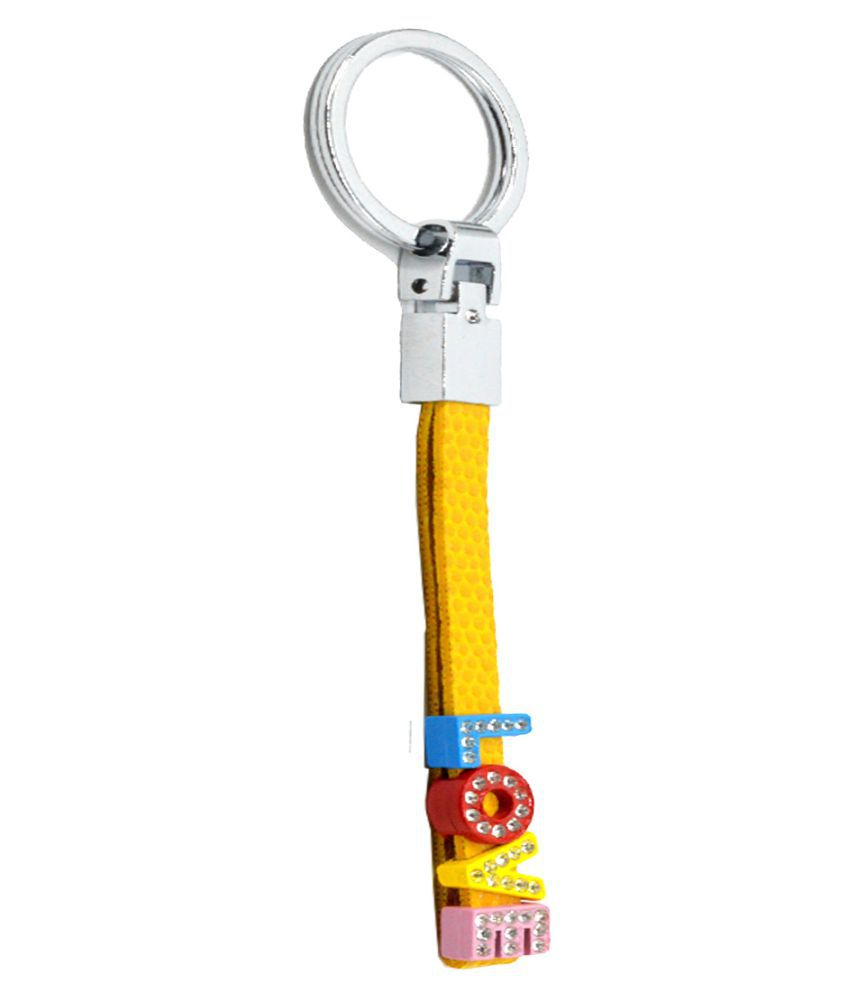 Faynci Cute Superior  Love Yellow Leather key chain for Valentine Day Gift for Spouse/Partner