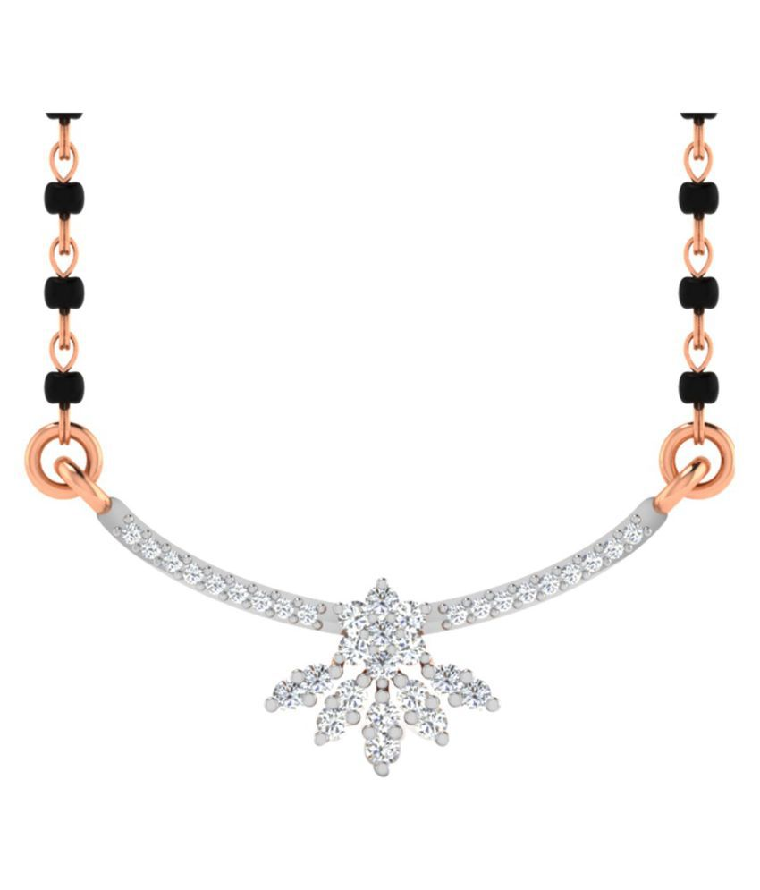 His & Her 14k Rose Gold Mangalsutra