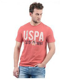 U.S. Polo Assn. Red Round T-Shirt
