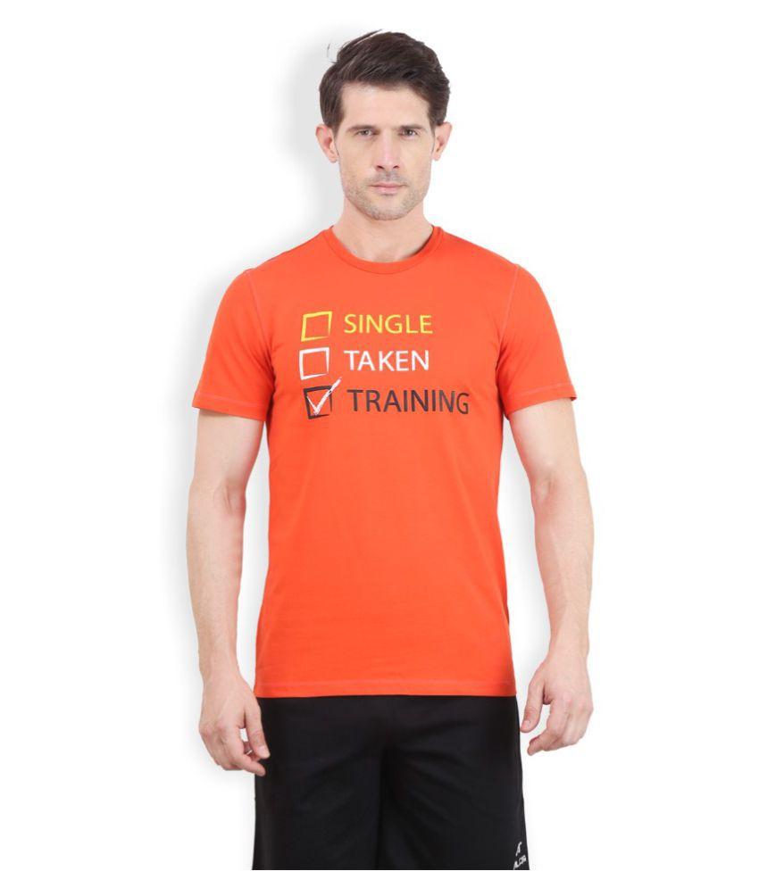 Alcis Men Printed Orange T-Shirt