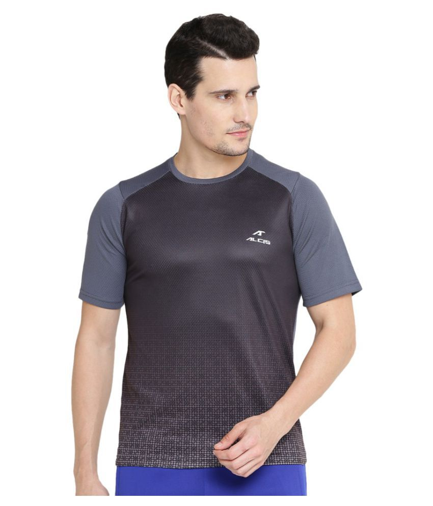 Alcis Men Solid Grey Tee