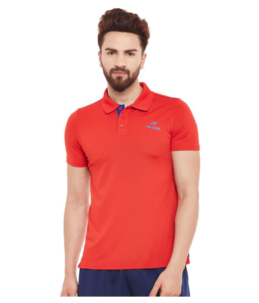Alcis Men Solid Red Polo
