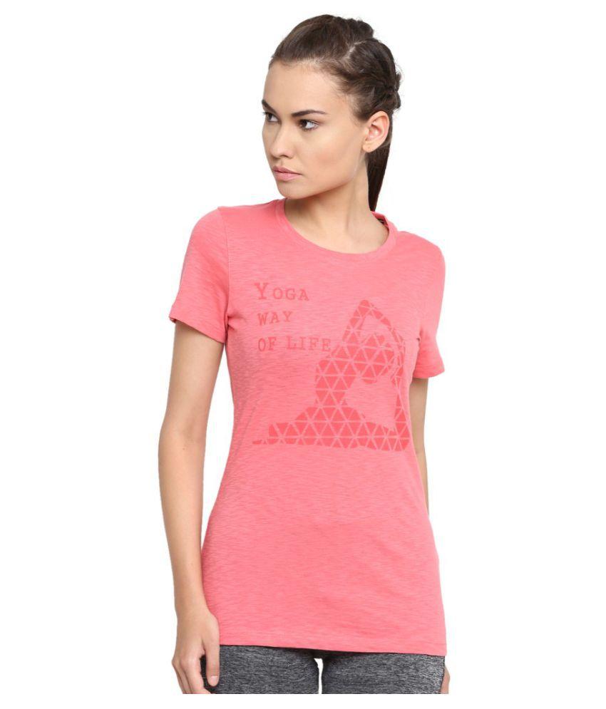 Alcis Women Printed Pink Tee