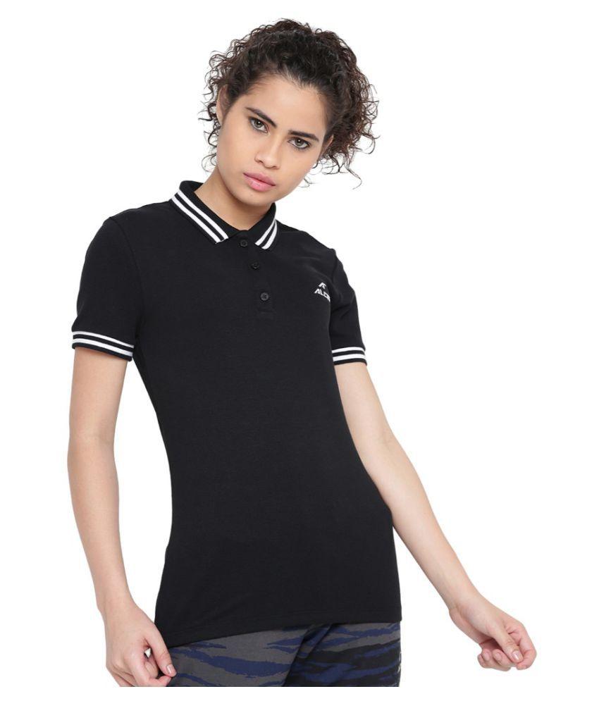 Alcis Women Solid Black Polo