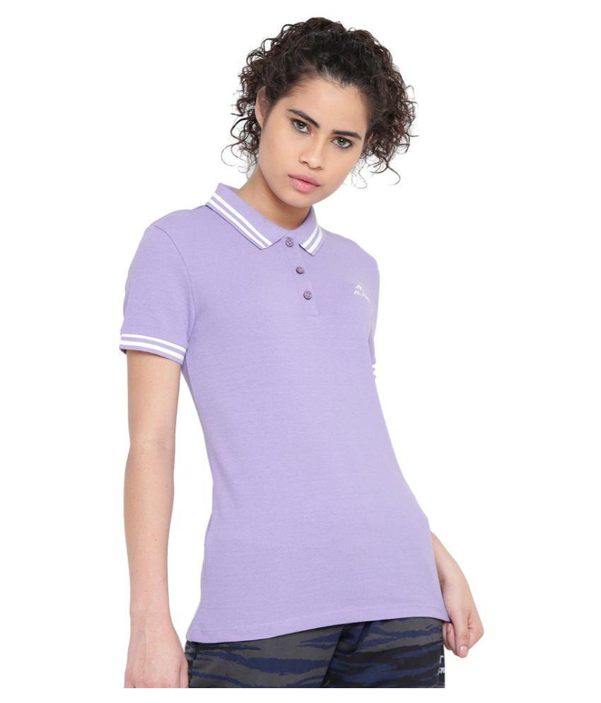 Alcis Women Solid Purple Polo
