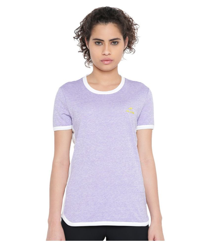 Alcis Women Solid Purple Tee