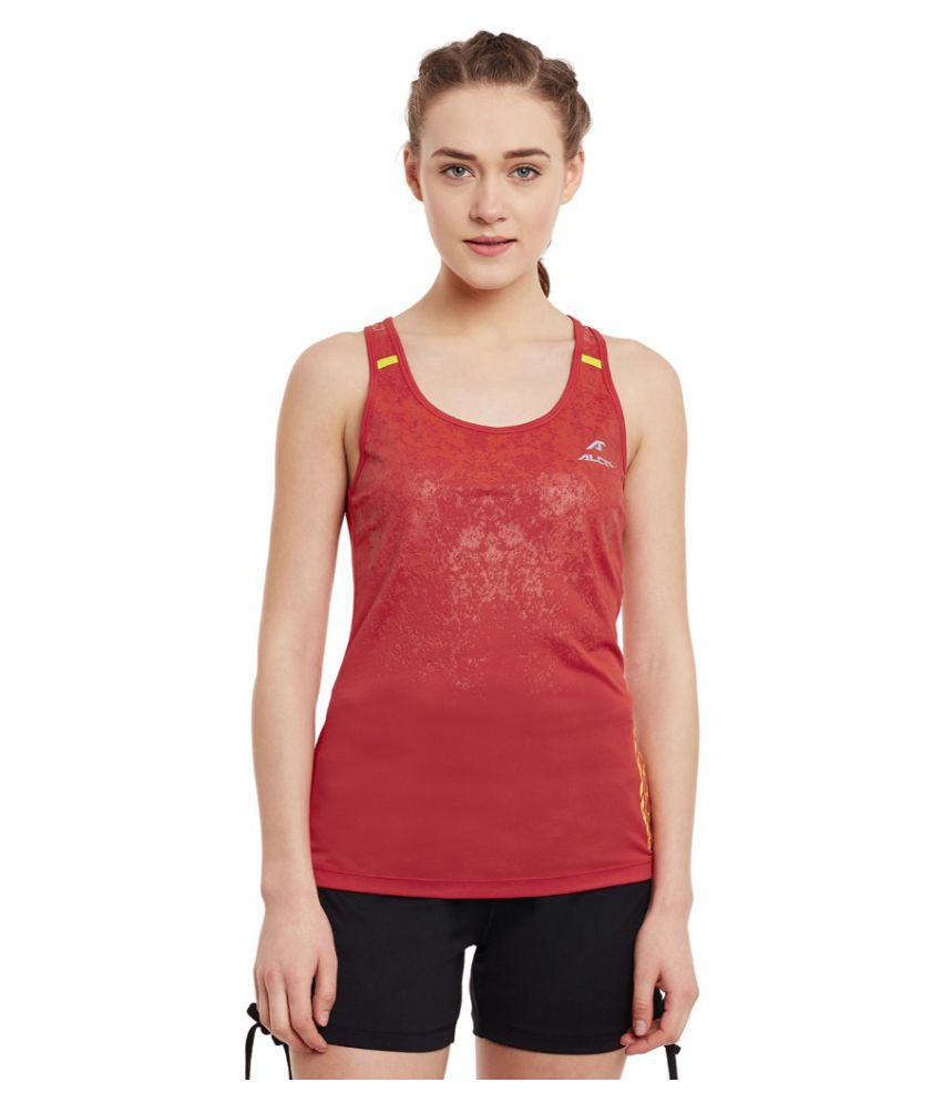 Alcis Women Solid Red Tank
