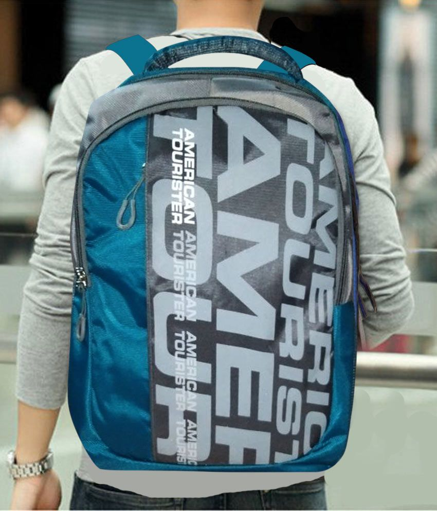 American Tourister Blue Laptop Backpack