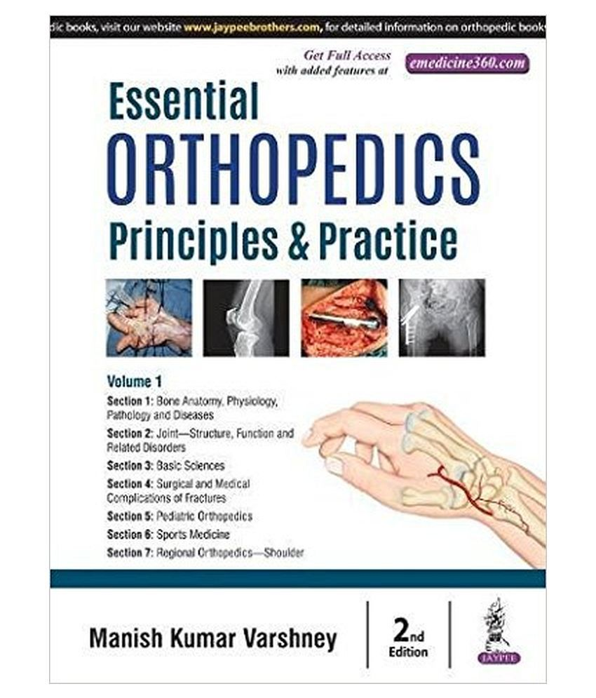 Essential Orthopedics Principles & Practice 2Nd Edition 2018 By Manish  Kumar Varshney