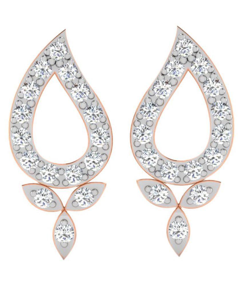His & Her 14k Rose Gold Diamond Studs