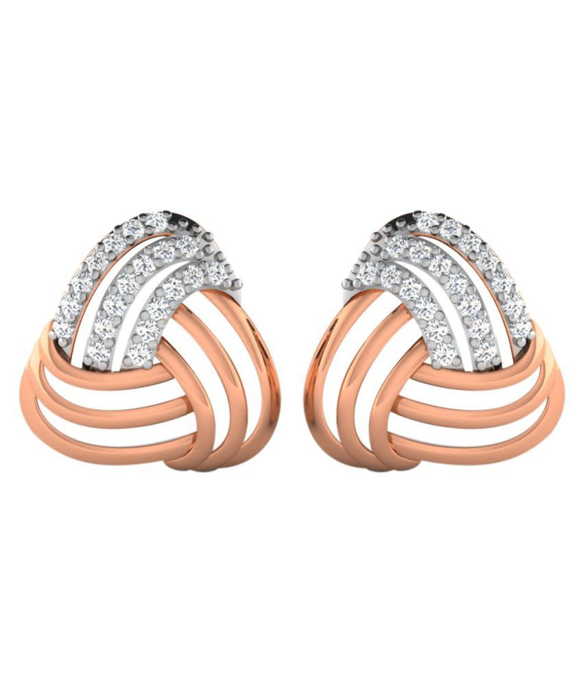 His & Her 14k Rose Gold Diamond Studs