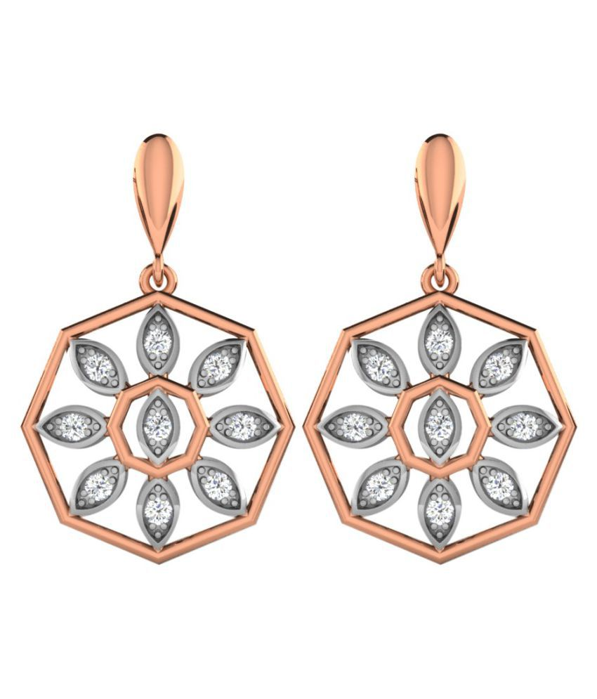 His & Her 14k Rose Gold Diamond Hangings