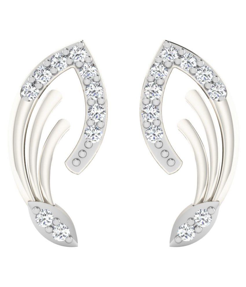 His & Her 14k White Gold Diamond Studs