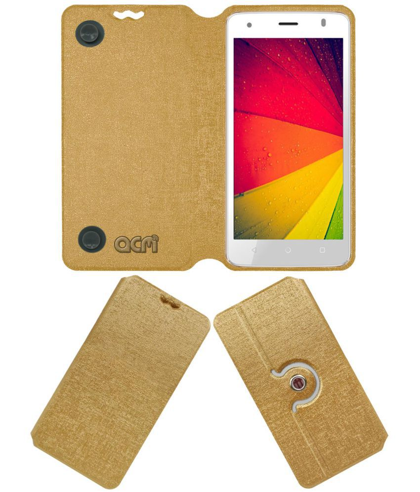 ZIOX ASTRA METAL 4G Flip Cover by ACM - Golden