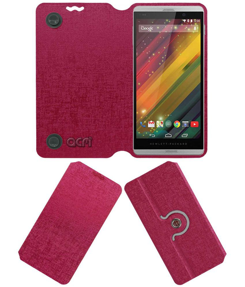 Hp Slate 6 Flip Cover by ACM - Pink