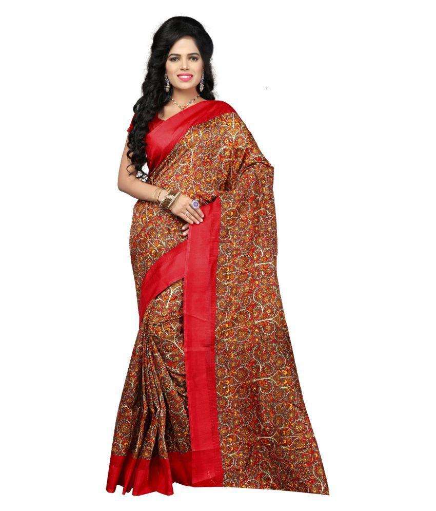 Indian Fashionista Brown Silk Saree