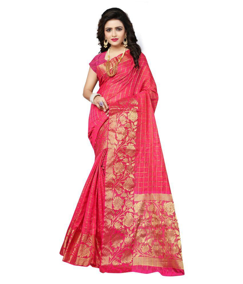Indian Fashionista Pink Linen Saree