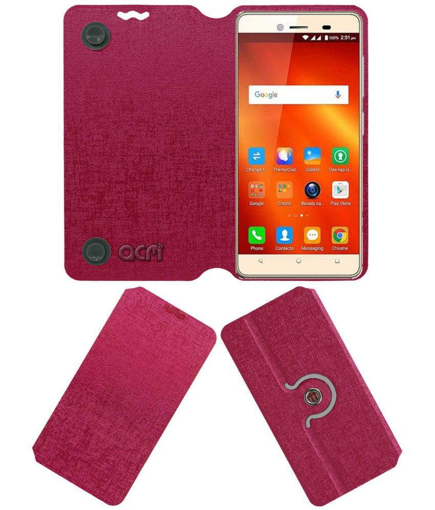 Panasonic T50 Flip Cover by ACM - Pink