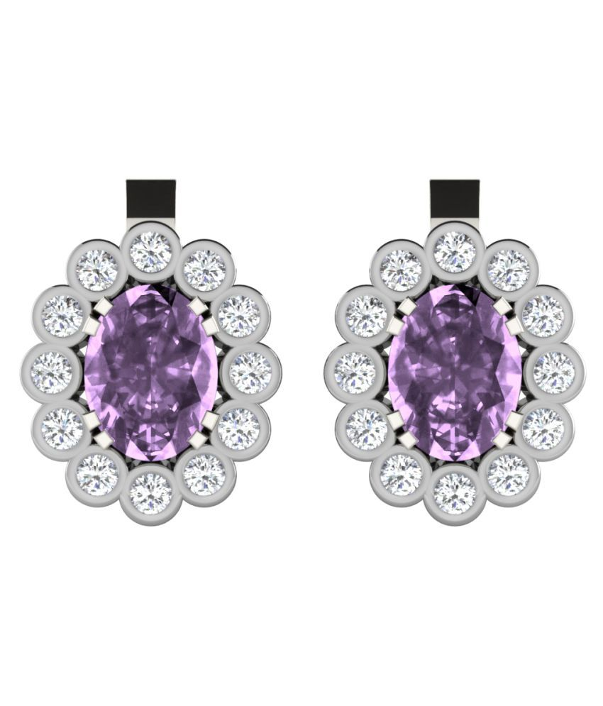 His & Her 92.5 Silver Amethyst Studs
