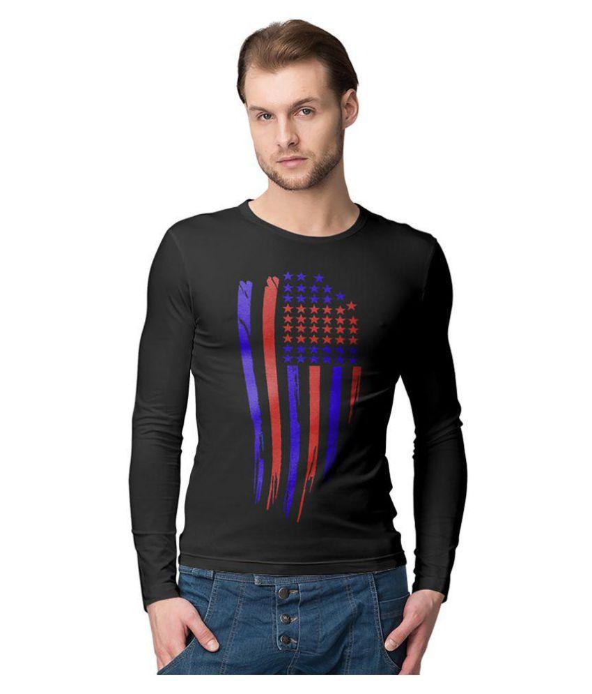 American-Elm Black Round T-Shirt Pack of 1