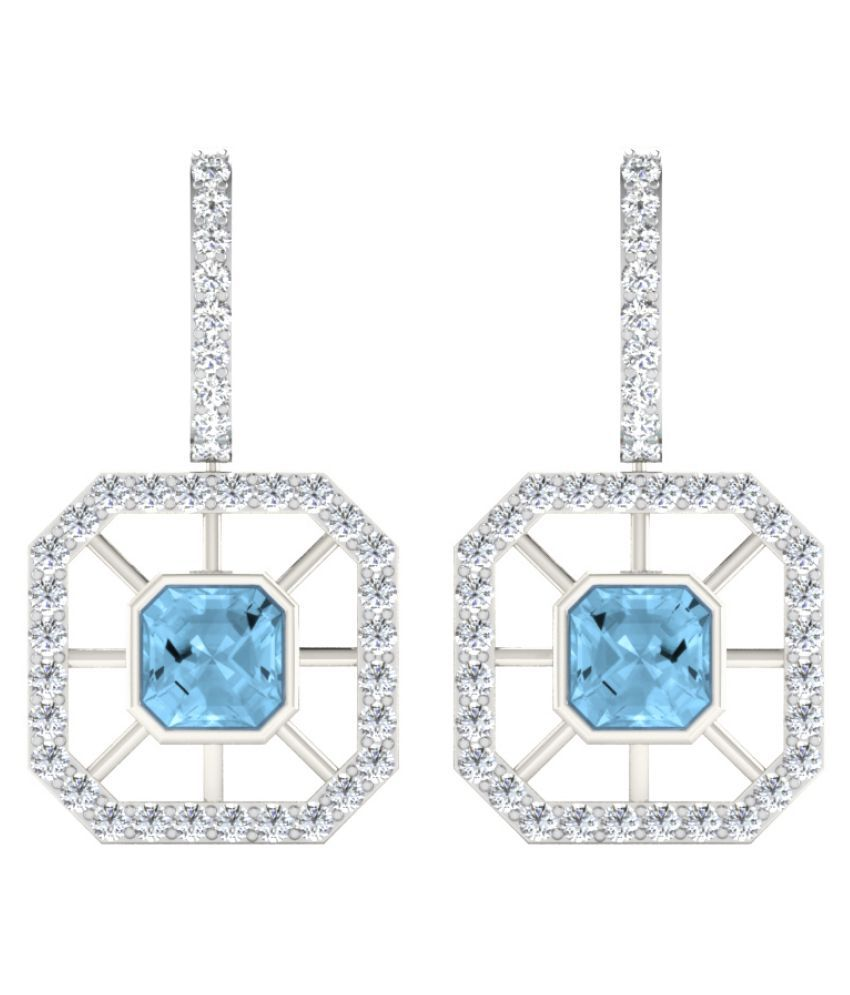 His & Her 92.5 Silver Topaz Hangings