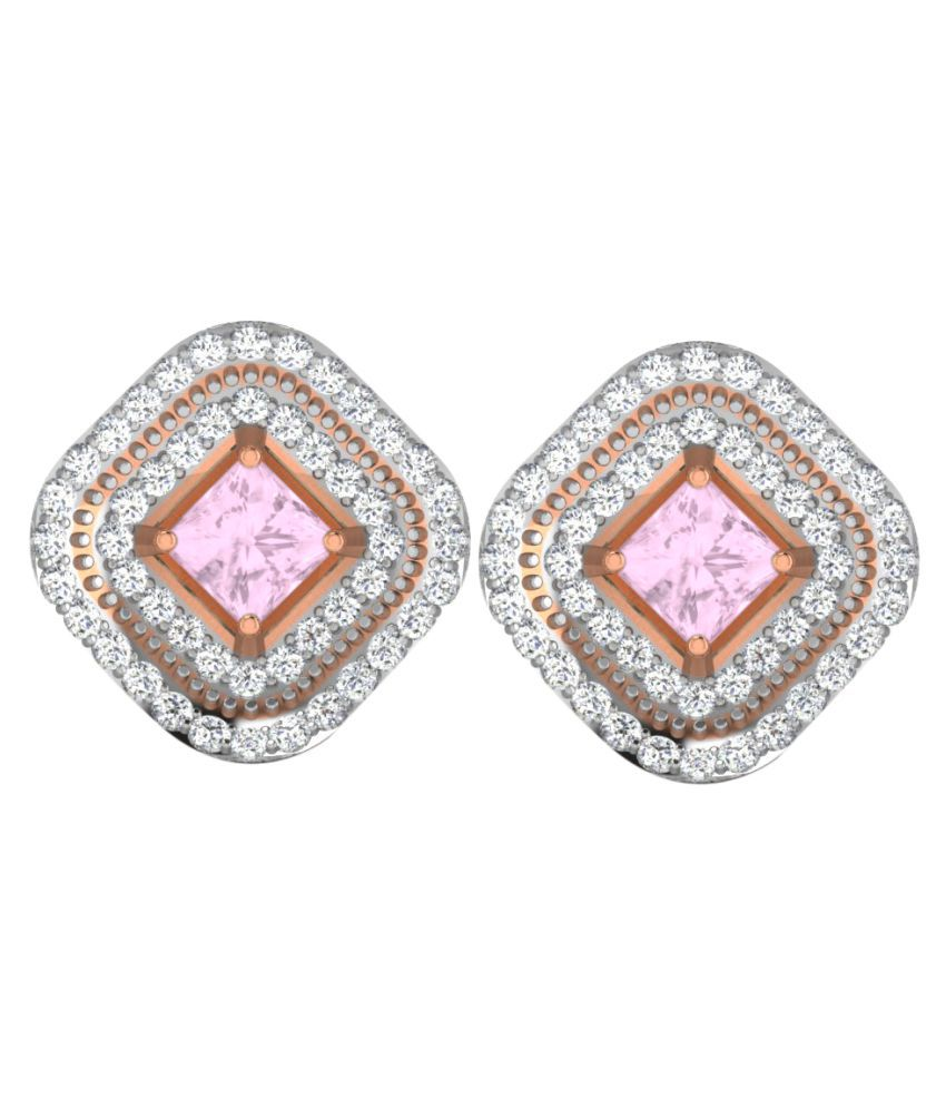 His & Her 9k Rose Gold Sapphire Studs