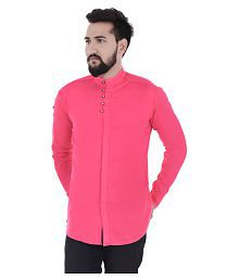 duenite Pink Slim Fit Party wear Shirt