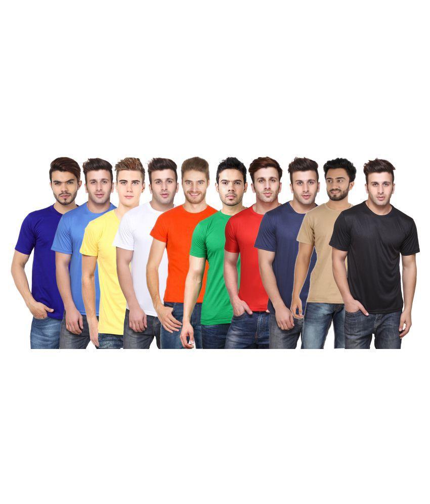 FUNKY GUYS Multi Round T-Shirt Pack of 10