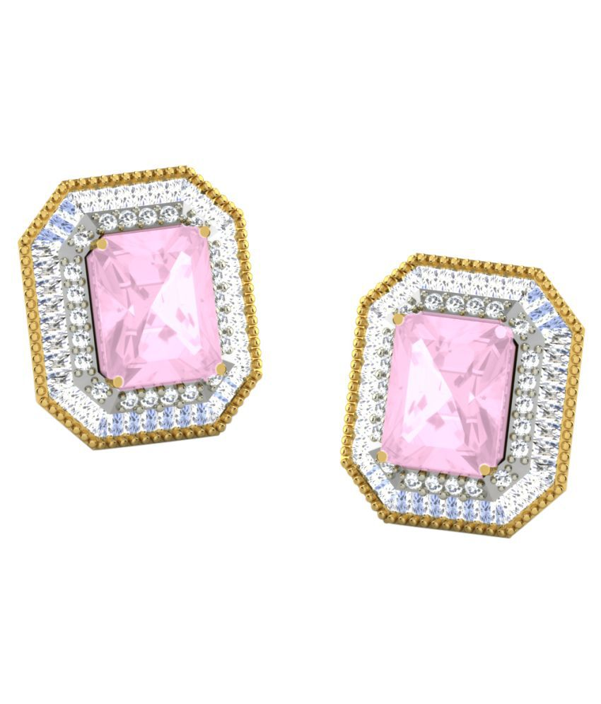 His & Her 9k Yellow Gold Sapphire Studs