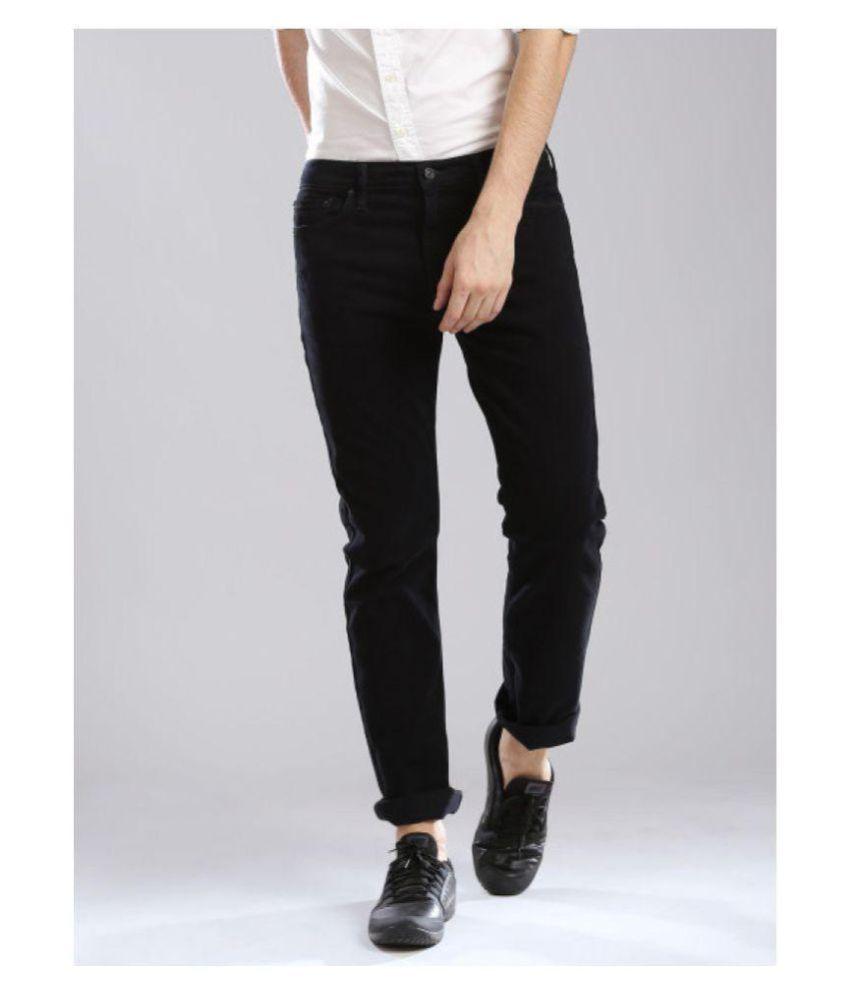 WAU Black Straight Jeans