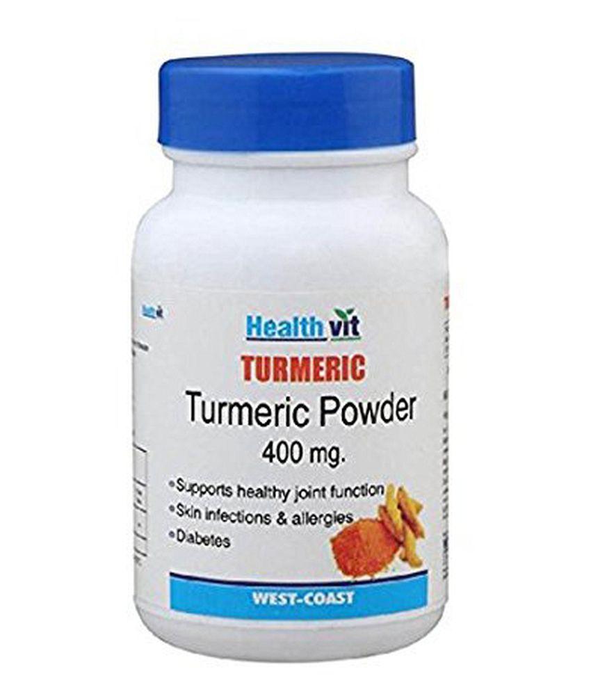 Healthvit Turmeric Turmeric Powder 400mg 60 Capsules - Pack of 2