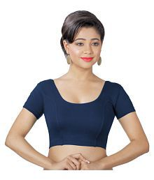 Abhi Blue Cotton Readymade without Pad Blouse