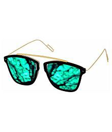 vedu enterprise Green Round Sunglasses ( Kohali 01 )
