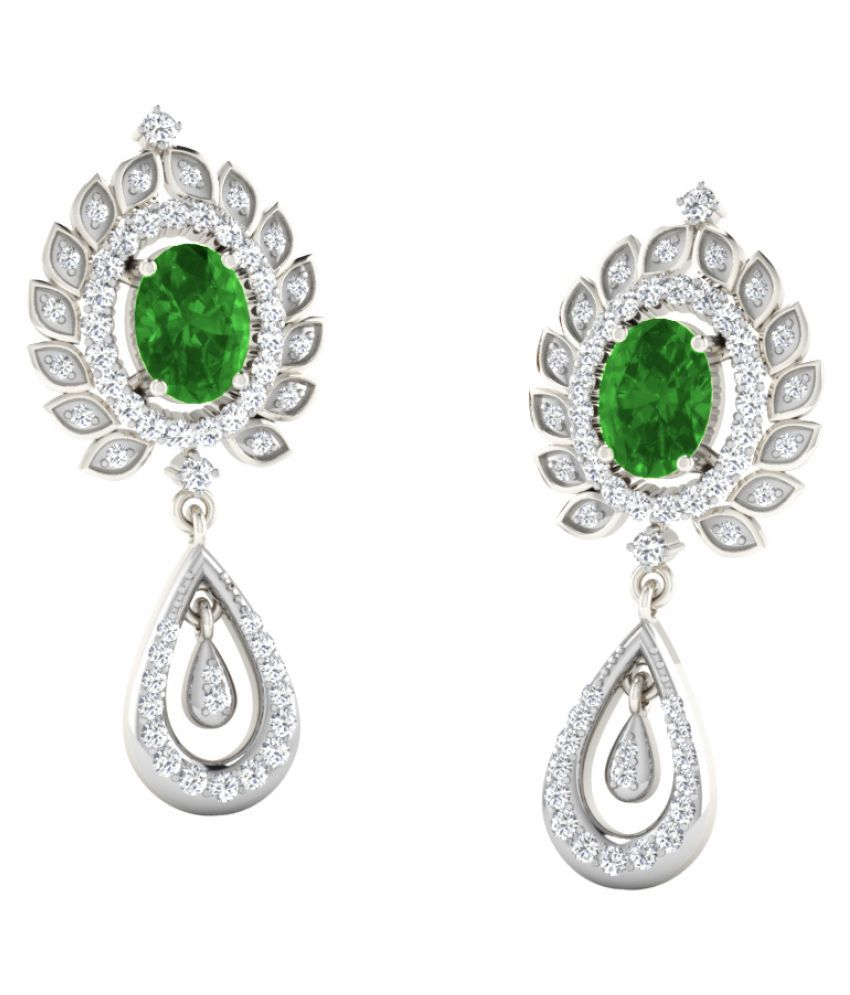 His & Her 9k White Gold Emerald Studs