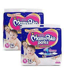 MAMY POKO M 74PCS PACK OF 2 (148PCS)