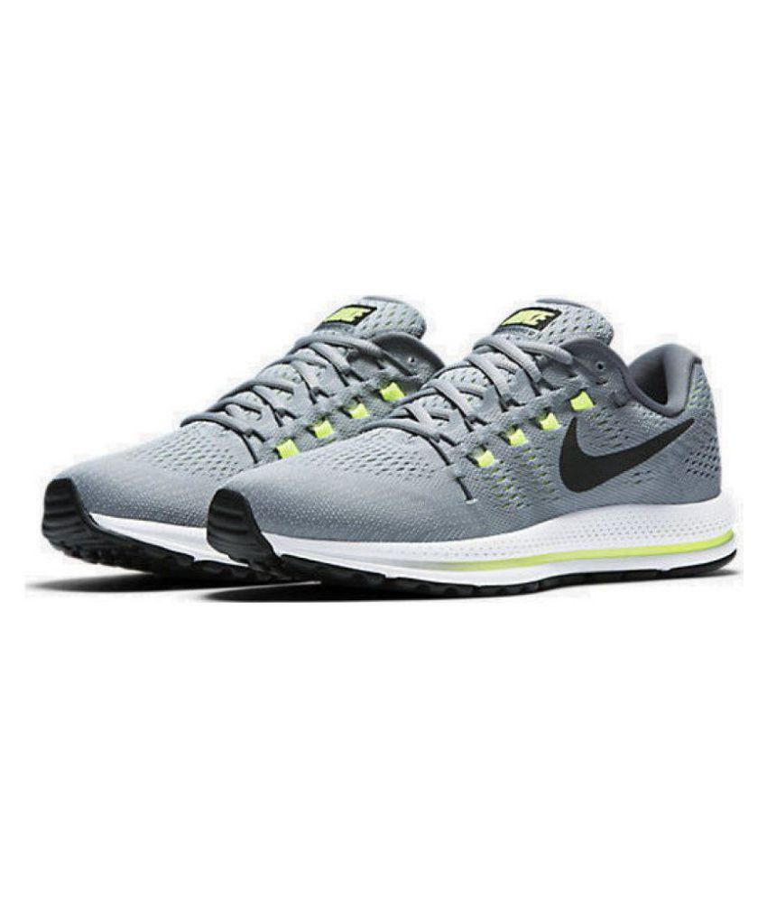 623eef88e2e57 Nike Zoom Vomero 12 Gray Running Shoes - Buy Nike Zoom Vomero 12 Gray  Running Shoes Online at Best Prices in India on Snapdeal