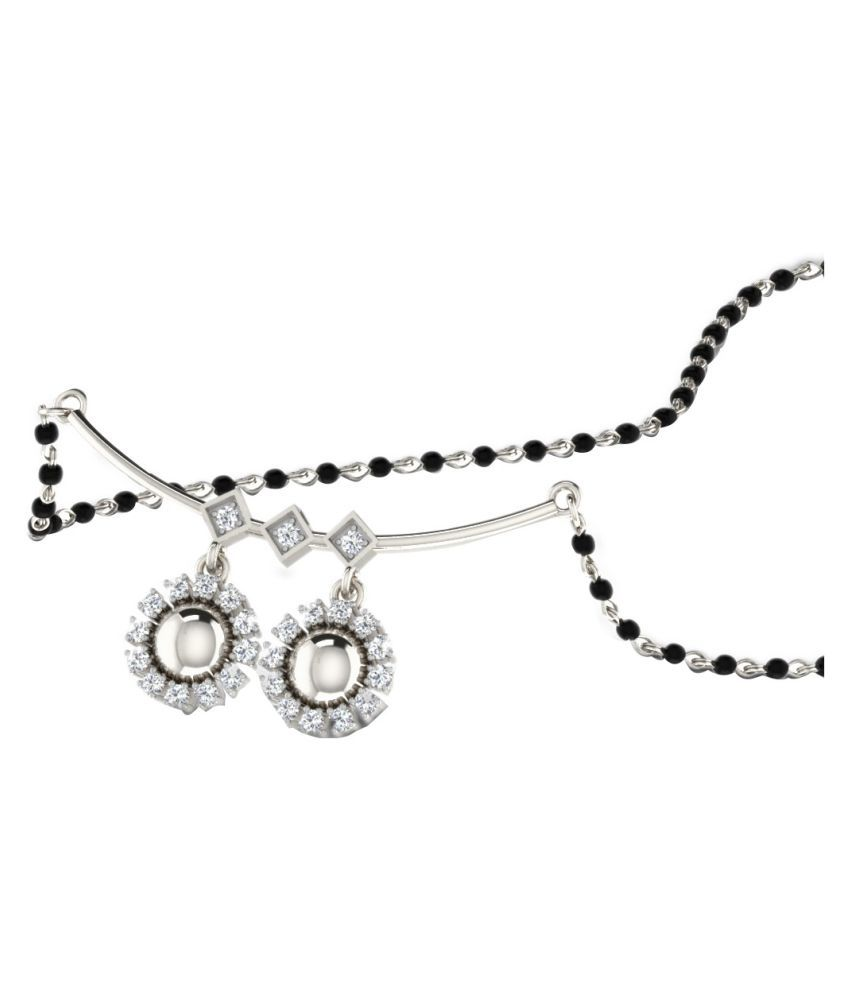 His & Her 92.5 Silver Diamond Mangalsutra