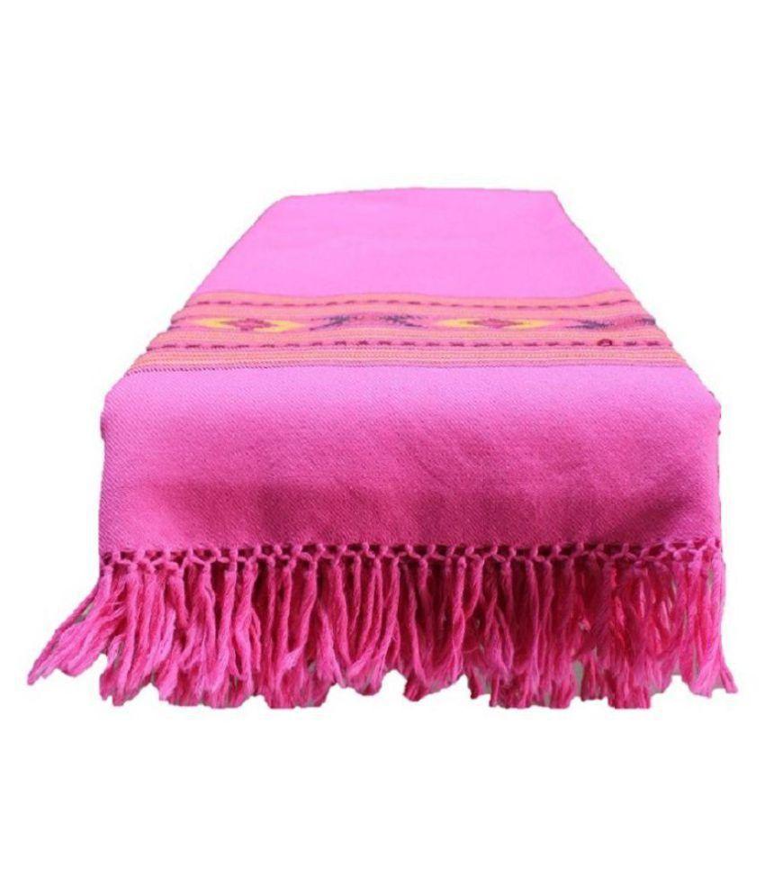HimalayanKraft Pink Loom-Woven Shawl