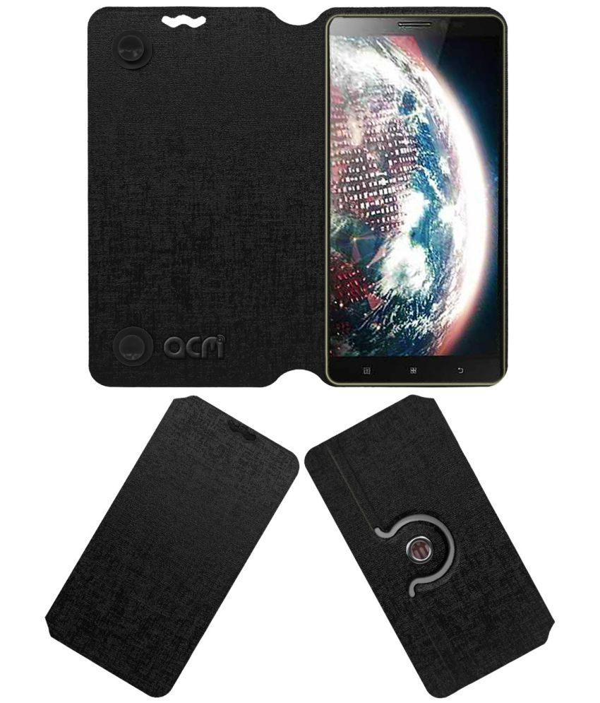 Lenovo Vibe Z2 Pro Flip Cover by ACM - Black