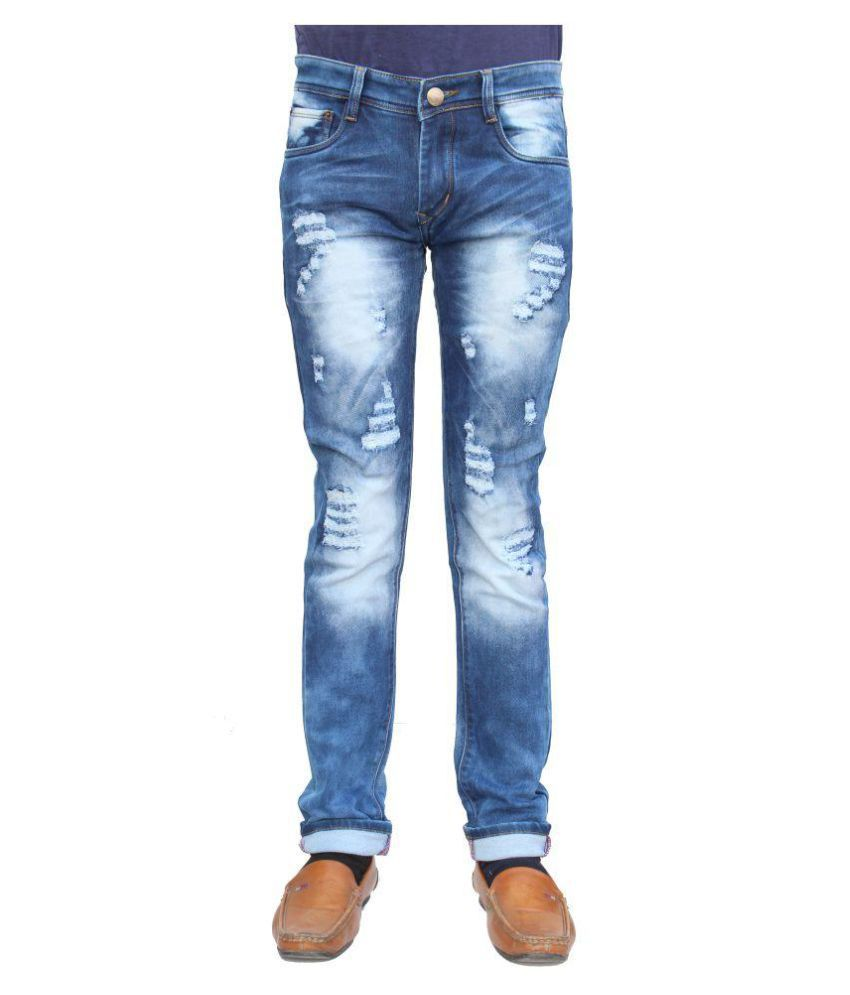 vertices Indigo Blue Relaxed Jeans