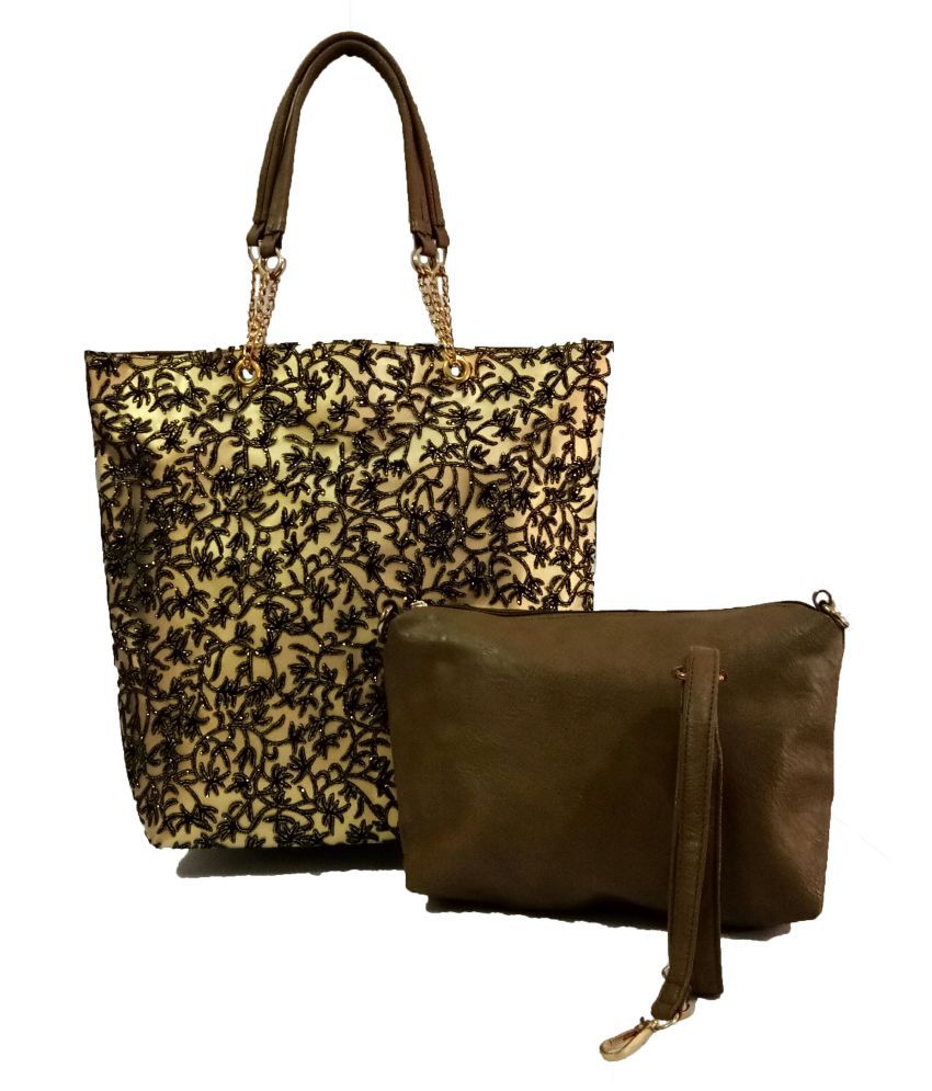 Divu Collections Green Faux Leather Shoulder Bag