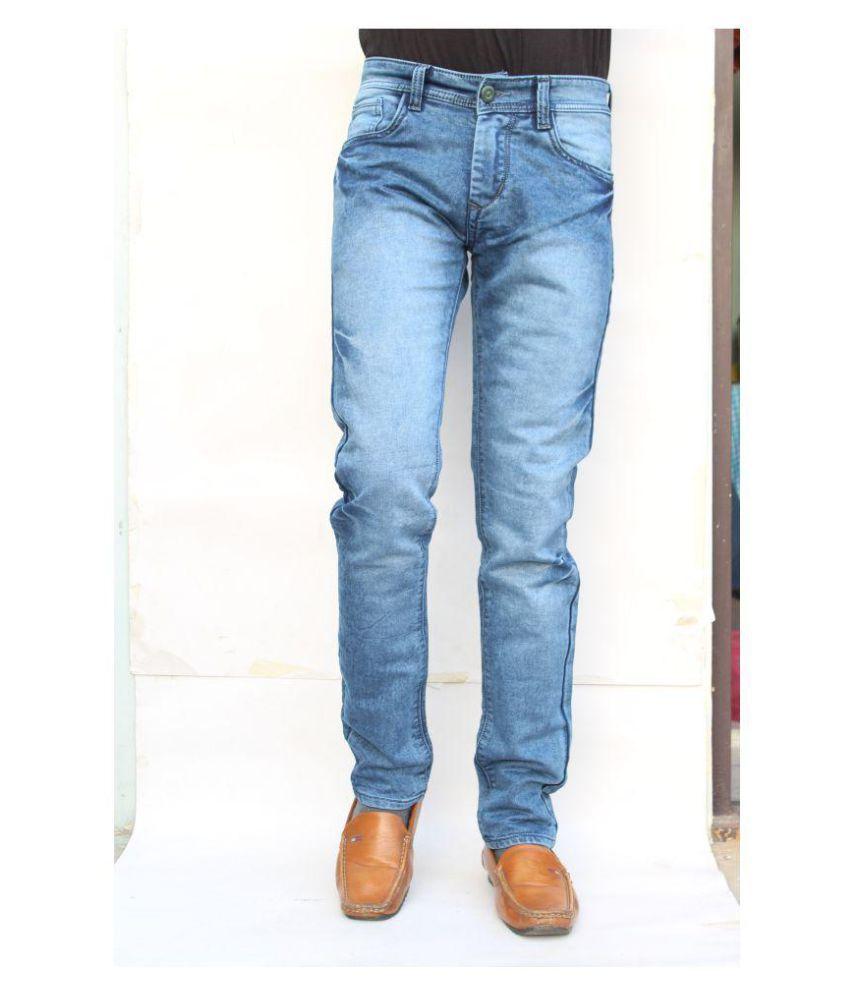 vertices Indigo Blue Regular Fit Jeans