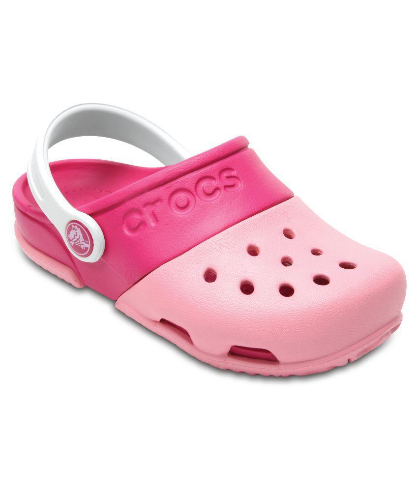 2dfa28b2af0c Crocs Pink Electro II Clogs for Boys   Girls Price in India- Buy Crocs Pink  Electro II Clogs for Boys   Girls Online at Snapdeal